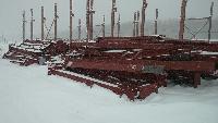 Монтаж металлоконструкций здания ремонта вагонов